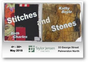 Stitches and Stones Exhibition Taylor Jensen Fine Arts